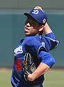 Kenta Maeda (Dodgers),<br /> MARCH 10, 2016 - MLB :<br /> Kenta Maeda of the Los Angeles Dodgers pitches during a spring training baseball game against the Oakland Athletics at Hohokam Stadium in Mesa, Arizona, United States. (Photo by AFLO)