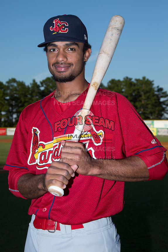 Johnson City Cardinals second baseman Eliezer Alvarez (11) poses for a photo prior to the game against the Burlington Royals at Burlington Athletic Park on August 22, 2015 in Burlington, North Carolina.  The Cardinals defeated the Royals 9-3. (Brian Westerholt/Four Seam Images)