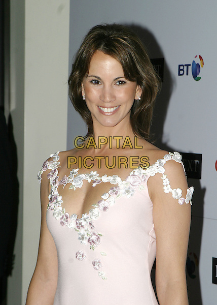 ANDREA McCLEAN.Arrivals at the Cyistic Fibrosis Trust Breathing Life Awards, Royal Lancaster Hotel, .London, April 28th 2005..portrait headshot pale pink dress flowers shoulder straps .Ref: AH.www.capitalpictures.com.sales@capitalpictures.com.©Adam Houghton/Capital Pictures.