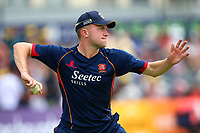 Sam Cook of Essex throws the ball ahead of Gloucestershire vs Essex Eagles, NatWest T20 Blast Cricket at The Brightside Ground on 13th August 2017