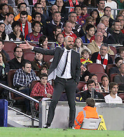 31.03.2012 Barcelona, Spain. Picture shoe Pep Guardiola  in action during La Liga match between FC Barcelona against Athletico de Bilbao at Camp Nou