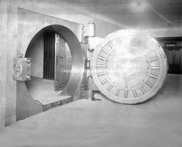 Frederick Stone negative. Interior view of  the vault of New Citizens & Manufacturers Bank 1925.