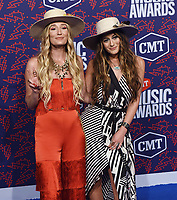 NASHVILLE, TENNESSEE - JUNE 05: Ruby Stewart and Alyssa Bonagura of The Sisterhood Band attend the 2019 CMT Music Awards at Bridgestone Arena on June 05, 2019 in Nashville, Tennessee. <br /> CAP/MPI/IS/NC<br /> ©NC/IS/MPI/Capital Pictures