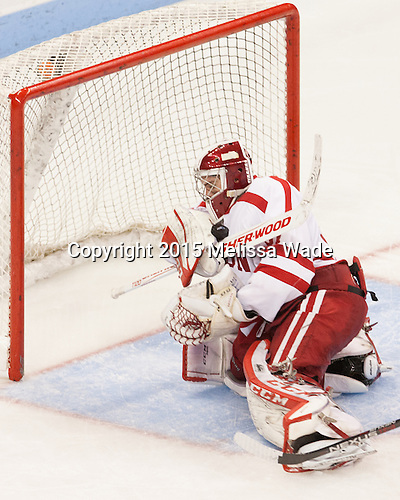 The Boston University Terriers defeated the visiting Bentley University Falcons 3-0 on Tuesday, November 24, 2015, at Agganis Arena in Boston, Massachusetts.