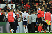 27th March 2018, Wembley Stadium, London, England; International Football Friendly, England versus Italy; John Stones of England goes off injured