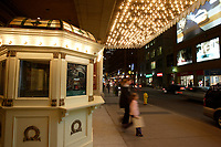 Toronto (ON) CANADA,  April , 2008-...The Elgin Theater on Yonge Street, at night..