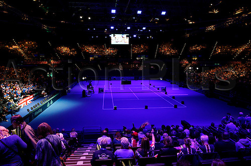 06.03.2016. Barclaycard Arena, Birmingham, England. Davis Cup Tennis World Group First Round. Great Britain versus Japan. A general view of the Barclaycard Arena, Birmingham before the start of play today.