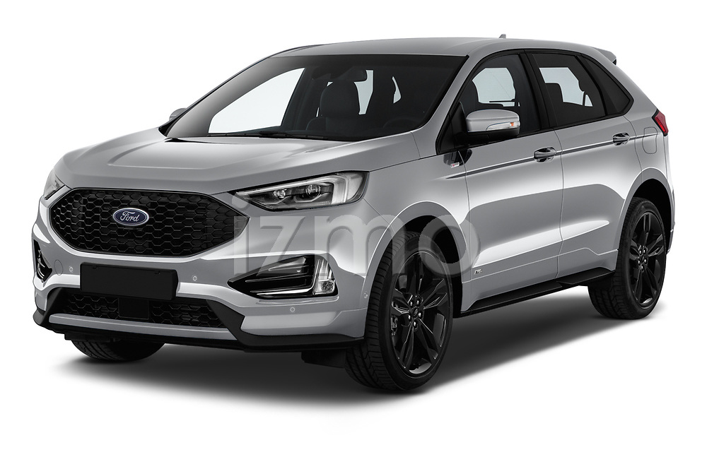 2019 Ford Edge ST Line 5 Door SUV angular front stock photos of front three quarter view