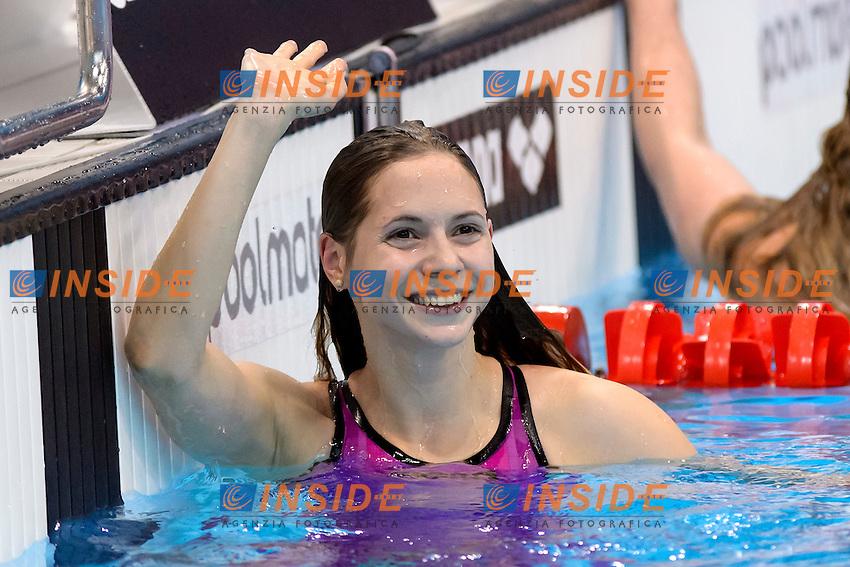 Boglarka KAPAS HUN Gold Medal <br /> 200m Breaststroke Women Final <br /> London, Queen Elizabeth II Olympic Park Pool <br /> LEN 2016 European Aquatics Elite Championships <br /> Swimming<br /> Day 11 19-05-2016<br /> Photo Andrea Staccioli/Deepbluemedia/Insidefoto