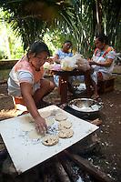 Huevos encamisados (eggs cooked inside a tortilla). Hacienda Tekik de Regil, Timucuy, Yucatan, Mexico