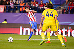 Atletico de Madrid's player XXX and CF Rostov's player XXX during a match of UEFA Champions League at Vicente Calderon Stadium in Madrid. November 01, Spain. 2016. (ALTERPHOTOS/BorjaB.Hojas)
