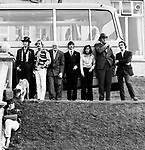 Beatles 1967 Magical Mystery Tour in Newquay, Cornwall. John Lennon, Ringo Starr, Mal Evans, Magic Alex and Neil Aspinall
