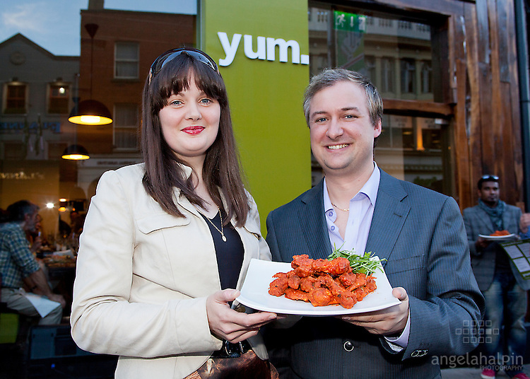 "L-R .Fashion Designer Claire O' Connor & Darren Mahon at the Launch of ""Yum Restaurant"", last night 1st Aug at 87 Camden St, Dublin 2. .******NO REPRO FEE******"