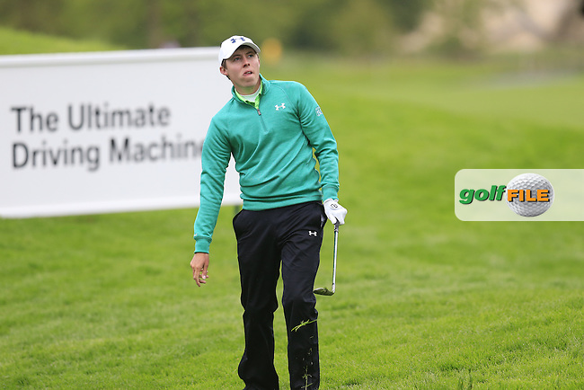 Matthew Fitzpatrick (ENG) chips onto the 17th green during Thursday's Round 1 of the 2016 Dubai Duty Free Irish Open hosted by Rory Foundation held at the K Club, Straffan, Co.Kildare, Ireland. 19th May 2016.<br /> Picture: Eoin Clarke | Golffile<br /> <br /> <br /> All photos usage must carry mandatory copyright credit (&copy; Golffile | Eoin Clarke)