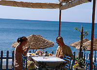 im Restaurant Marcos in Perissa, Insel Santorin (Santorini), Griechenland, Europa