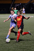 Rochester, NY - Friday July 01, 2016: Western New York Flash midfielder Meredith Speck (25), Chicago Red Stars defender Arin Gilliland (3) during a regular season National Women's Soccer League (NWSL) match between the Western New York Flash and the Chicago Red Stars at Rochester Rhinos Stadium.