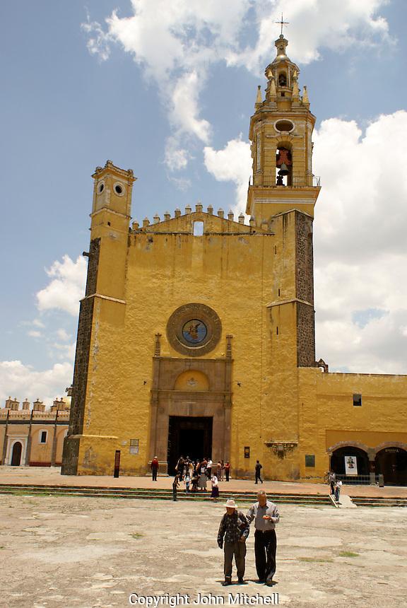 The Templo de San Gabrial in the Ex-Convento de San Gabriel, Cholula, Puebla, Mexico. Cholula is a UNESCO World Heritage Site.