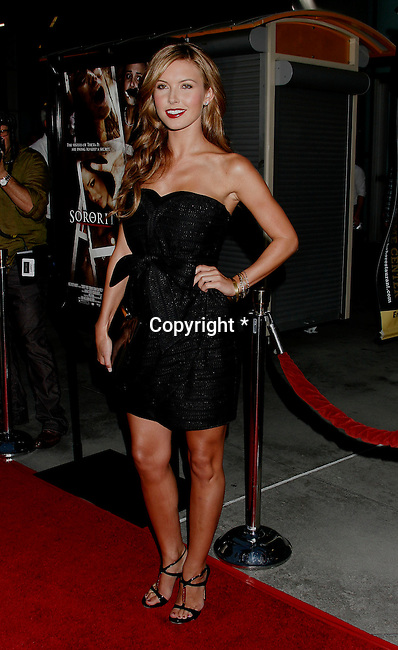 "HOLLYWOOD, CA. - September 03: Audrina Patridge arrives at the Los Angeles premiere of ""Sorority Row"" at the ArcLight Hollywood theater on September 3, 2009 in Hollywood, California."