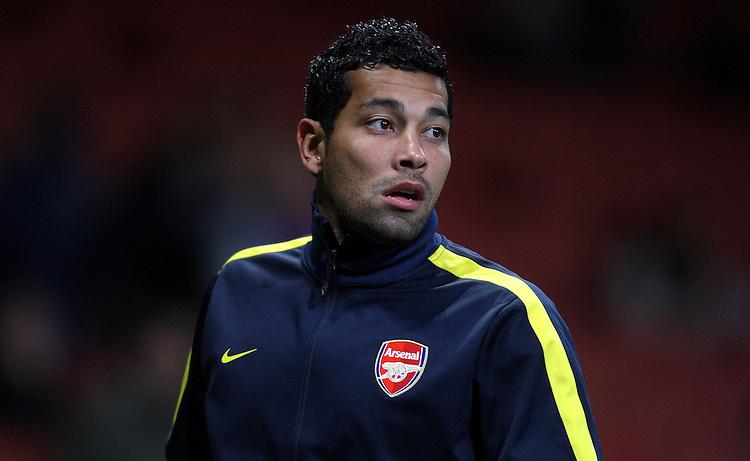 Arsenal's Andre Santos ..Football - UEFA Champions League Group B - Arsenal v Olympiakos FC - Wednesday 3rd October 2012 - Emirates Stadium - London..