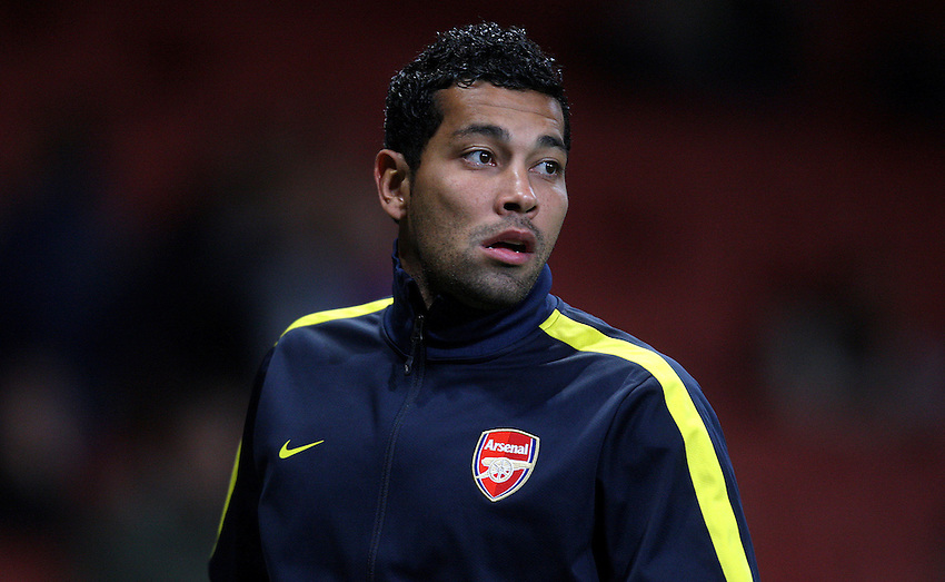 Arsenal's Andre Santos ..Football - UEFA Champions League Group B - Arsenal v Olympiakos FC - Wednesday 3rd October 2012 - Emirates Stadium - London..