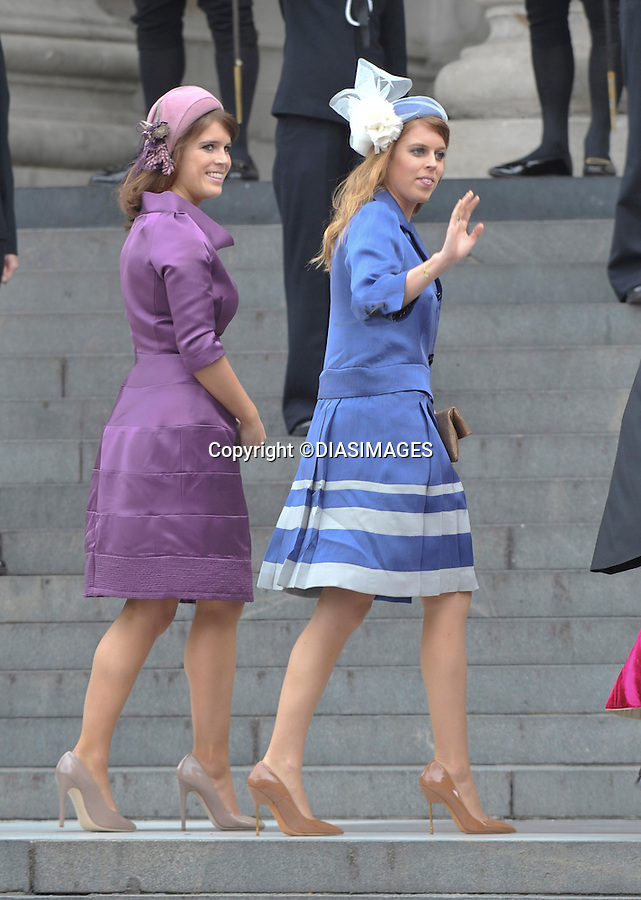 "PRINCESSES BEATRICE AND EUGENIE.QUEEN CELEBRATES DIAMOND JUBILEE.The Queen and 50 members of the Royal Family attended a church service to celebrate her Diamond Jubilee at St. Paul's Cathedral, London_05/06/2012.Mandatory Credit Photo: ©Francis Dias/DIASIMAGES..**ALL FEES PAYABLE TO: ""NEWSPIX INTERNATIONAL""**..IMMEDIATE CONFIRMATION OF USAGE REQUIRED:.Newspix International, 31 Chinnery Hill, Bishop's Stortford, ENGLAND CM23 3PS.Tel:+441279 324672  ; Fax: +441279656877.Mobile:  07775681153.e-mail: info@newspixinternational.co.uk"