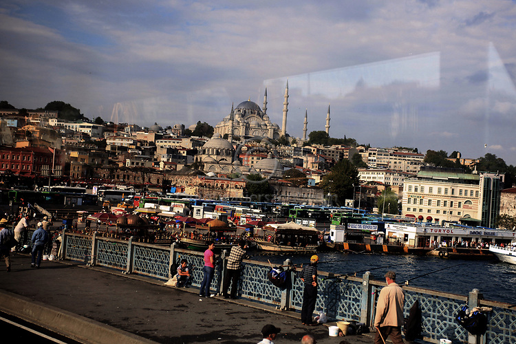 Istanbul, Galata Bridge. May 2010.
