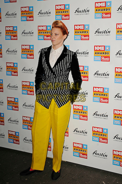 LONDON, ENGLAND - FEBRUARY 18: Elly Jackson attending the NME Awards at Brixton Academy on February 18 2015 in London, England.<br /> CAP/MAR<br /> &copy; Martin Harris/Capital Pictures
