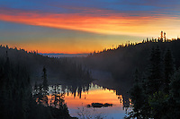 Dawn on northern lake<br /> Schreiber<br /> Ontario<br /> Canada