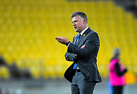 Phoenix head coach Ufuk Talay during the A-League football match between Wellington Phoenix and Perth Glory at Westpac Stadium in Wellington, New Zealand on Sunday, 27 October 2019. Photo: Dave Lintott / lintottphoto.co.nz