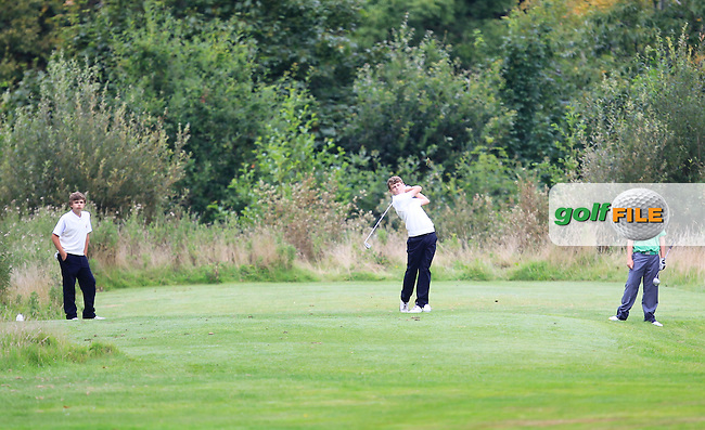 Marc McKinstry (Ulster) on the 9th tee during the Boys Under 15 Interprovincial Championship Morning Round at the West Waterford Golf Club on Wednesday 22nd August 2013 <br /> Picture:  Thos Caffrey/ www.golffile.ie