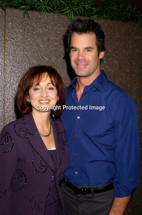 Robin Strasser and Tuc Watkins ..at the 12th Annual Gala for The League for the Hard of Hearing called Feast With Famous Faces on October 18, 2004 at JP Morgan Chase. ..Photo by Robin Platzer, Twin Images