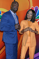 LOS ANGELES - AUG 8:  Akbar Gbaja-Biamila, Zuri Hall at the NBC TCA Summer 2019 Press Tour at the Beverly Hilton Hotel on August 8, 2019 in Beverly Hills, CA
