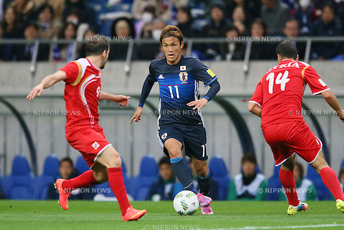 Takashi Usami (JPN), MARCH 29, 2016 - Football / Soccer : FIFA World Cup Russia 2018 Asian Qualifier Second Round Group E match between Japan 5-0 Syria at Saitama Stadium 2002, Saitama, Japan. (Photo by YUTAKA/AFLO SPORT)