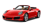 2018 Porsche 911 Carrera 2 Door Convertible Angular Front stock photos of front three quarter view