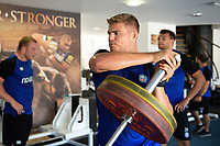 Tom Ellis of Bath Rugby in the gym. Bath Rugby pre-season training on July 2, 2018 at Farleigh House in Bath, England. Photo by: Patrick Khachfe / Onside Images