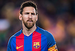 Lionel Andres Messi of FC Barcelona looks on prior to the Copa del Rey 2016-17 Semi-final match between FC Barcelona and Atletico de Madrid at the Camp Nou on 07 February 2017 in Barcelona, Spain. Photo by Diego Gonzalez Souto / Power Sport Images