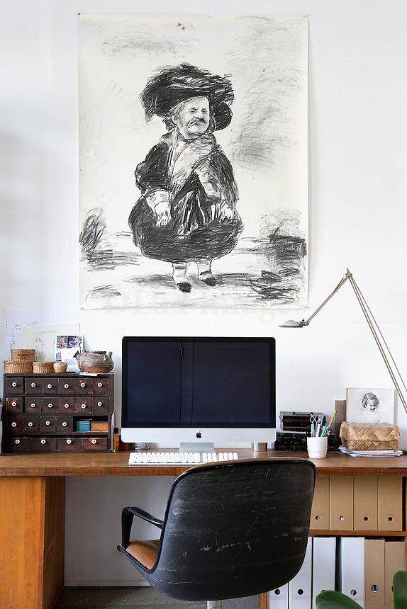 contemporary wooden desk