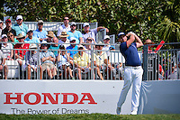 Tyrell Hatton (ENG) watches his tee shot on 1 during round 3 of the Honda Classic, PGA National, Palm Beach Gardens, West Palm Beach, Florida, USA. 2/25/2017.<br /> Picture: Golffile | Ken Murray<br /> <br /> <br /> All photo usage must carry mandatory copyright credit (&copy; Golffile | Ken Murray)