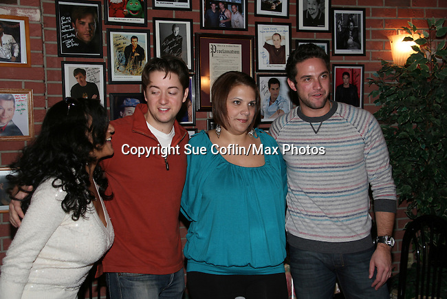 Bradford Anderson, Brandon Barash and fan - General Hospital - appeared by way of Coastal Entertainment on December 6, 2009 at Uncle Vinny's/Ferrera's Cafe in Point Pleasant, New Jersey. They sang for the fans, answered questions, signed photos and posed for photos. (Photos by Sue Coflin/Max Photos)