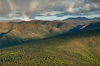 Aerial views of the Yukon Charley Rivers National Preserve, Interior, Alaska