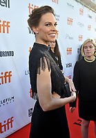 12 September 2018 - Toronto, Ontario, Canada - Hilary Swank. &quot;What They Had&quot; Premiere - 2018 Toronto International Film Festival held at Roy Thomson Hall. Photo Credit: Brent Perniac/AdMedia<br /> CAP/ADM/BPC<br /> &copy;BPC/ADM/Capital Pictures
