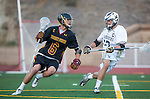 San Diego, CA 05/25/13 - Lucas Gradinger (Torrey Pines #6) and Kyle Mummau (La Costa Canyon #17) in action during the 2013 CIF San Diego Section Open DIvision Boys Lacrosse Championship game.  Torrey Pines defeated La Costa Canyon 7-5.