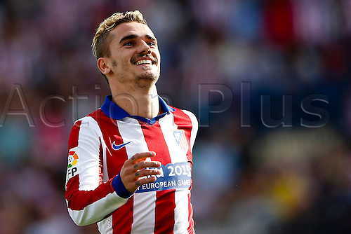 02.05.2015. Bilbao, Spain. Antonie Griezmann Forward of Atletico de Madrid . La Liga football. Atletico de Madrid versus Athletic Club Bilbao at Vicente Calderon stadium.
