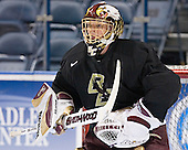 Cory Schneider - The Boston College Eagles practiced at the Bradley Center in Milwaukee, Wisconsin, on April 7, 2006 in preparation for the 2006 Frozen Four Final game vs. the University of Wisconsin on April 8, 2006.