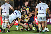 29th September 2017, Sixways Stadium, Worcester, England; Aviva Premiership Rugby, Worcester Warriors versus Saracens; a lot of power and muscle from Worcester Warriors trying to move forward
