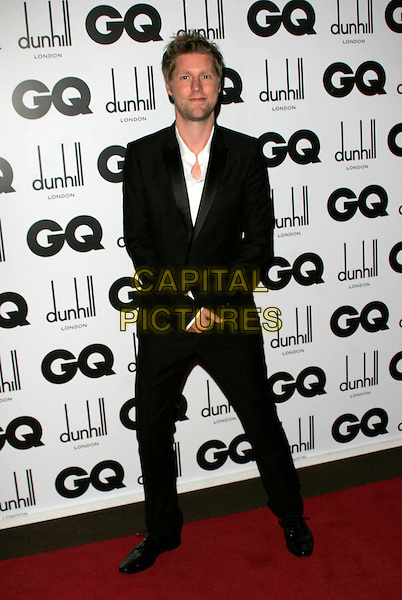 CHRISTOPHER BAILEY .Inside Arrivals at the GQ Men of the Year Awards at the Royal Opera House, Covent Garden, London, England,.2nd September 2008..full length black suit white shirt .CAP/AH.©Adam Houghton/Capital Pictures