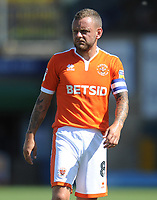 Blackpool's Jay Spearing<br /> <br /> Photographer Kevin Barnes/CameraSport<br /> <br /> The EFL Sky Bet League One - Wycombe Wanderers v Blackpool - Saturday 4th August 2018 - Adams Park - Wycombe<br /> <br /> World Copyright &copy; 2018 CameraSport. All rights reserved. 43 Linden Ave. Countesthorpe. Leicester. England. LE8 5PG - Tel: +44 (0) 116 277 4147 - admin@camerasport.com - www.camerasport.com