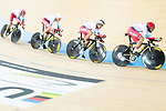 The team of Russia with Viktor Manakov, Alexander Evtushenko, Vladislav Kulikov and Alexey Kurbatov compete in Men's Team Pursuit - 1st Round match as part of the 2017 UCI Track Cycling World Championships on 12 April 2017, in Hong Kong Velodrome, Hong Kong, China. Photo by Victor Fraile / Power Sport Images