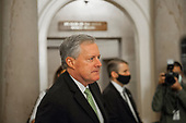 Mark Meadows, Assistant to the President and Chief of Staff, arrives for a meeting with US Senate Minority Leader Chuck Schumer (Democrat of New York), Speaker of the US House of Representatives Nancy Pelosi (Democrat of California), and US Secretary of the Treasury Steven T. Mnuchin, regarding the COVID-19 economic stimulus package, at the US Capitol in Washington, DC., Thursday, August 6, 2020. <br /> Credit: Rod Lamkey / CNP