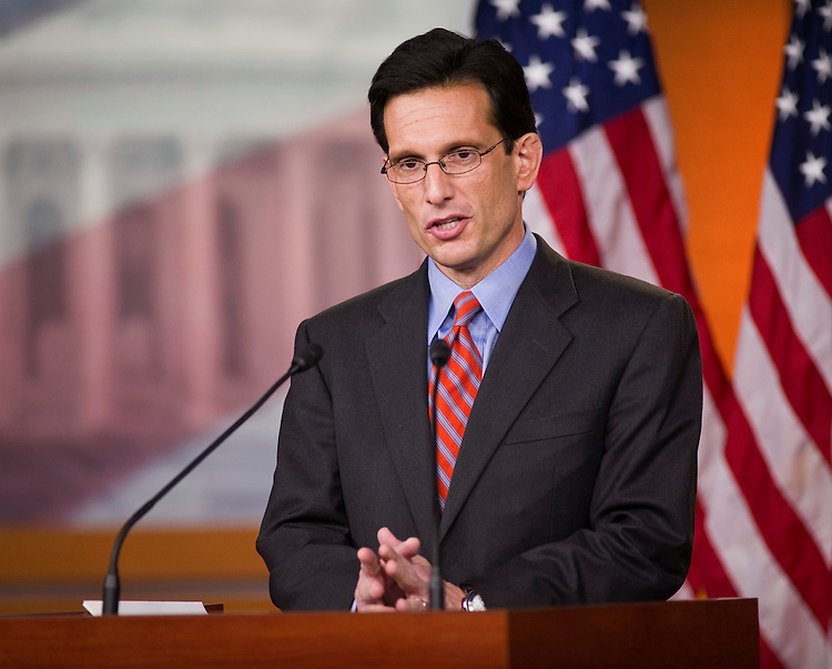 WASHINGTON, DC- Jan. 06: House Majority Leader Eric Cantor, R-Va., during a news conference with House Speaker John A. Boehner, R-Ohio, on their first full day of the 112th Congress. (Photo by Scott J. Ferrell/Congressional Quarterly)